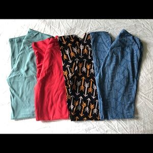 LOT OF 4 Brand New LuLaRoe (OS) Leggings
